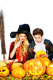 Vampire and witch Stock Photography