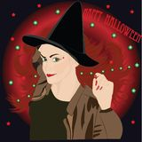 Vampire witch Royalty Free Stock Images