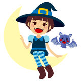 Vampire Witch and Vamp Mascot Stock Image
