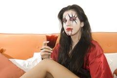 Vampire woman stock images