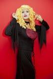 Vampire woman. Blond vampire woman at halloween day Royalty Free Stock Photo