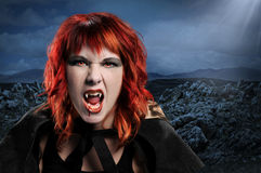 Vampire Woman Hissing Royalty Free Stock Image