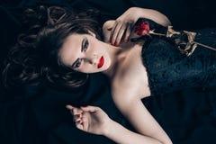 Vampire woman. Portrait of beautiful vampire woman Stock Photography