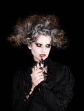 Vampire woman portrait, halloween concept Stock Photo