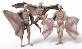 Vampires 3D Illustration. Vampires Strigoi 3D Illustration Isolated on White Royalty Free Stock Images
