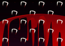 Vampires Tooth and Blood Pattern. Halloween Royalty Free Stock Image
