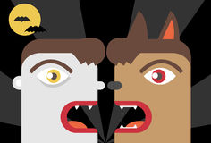 Vampires versus Werewolves Royalty Free Stock Images