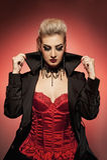 Vampirfrau Lizenzfreies Stockfoto