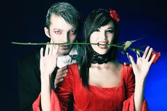 Vampiric couple Royalty Free Stock Photos