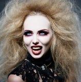 Vampiro alla notte Fotografia Stock