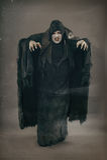 Vampiro antigo do mutante do horror com os grandes pregos assustadores F medieval fotos de stock royalty free