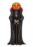 Vampiro da cabeça da abóbora de Dia das Bruxas ilustração do vetor