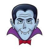 Vampiro de Dia das Bruxas com sorrir forçadamente assustador Fotografia de Stock Royalty Free
