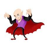 Vampiro de la historieta ilustración del vector