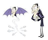 Vampiro de la historieta Imágenes de archivo libres de regalías