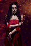 Vampiro de la mujer Fotografía de archivo