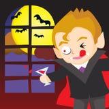 Vampiro de Víspera de Todos los Santos Foto de archivo