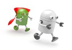 Vampiro del robot - prede sulla vittima Fotografia Stock Libera da Diritti