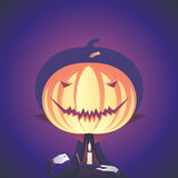 Vampiro della zucca di Halloween Fotografia Stock Libera da Diritti