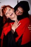 Vampiro delle coppie di Halloween fotografia stock libera da diritti