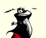 Vampiro dipinto su un fondo bianco illustrazione vettoriale