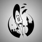 Vampiro dos desenhos animados. Caráter de Dia das Bruxas Imagens de Stock