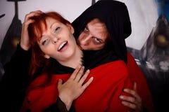 Vampiro dos pares de Halloween imagem de stock royalty free
