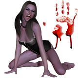 Vampiro fêmea - figura 3D ilustração stock