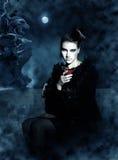 Vampiro hermoso Fotos de archivo libres de regalías
