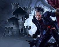 Vampiro masculino hermoso ilustración del vector