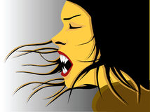Vampiro - muchacha stock de ilustración