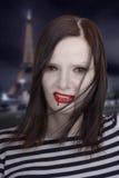 Vampiro a Parigi di notte Fotografie Stock