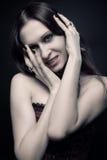 Vampiro seducente Fotografia Stock Libera da Diritti