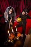 Vampiro 'sexy' das senhoras Imagens de Stock Royalty Free