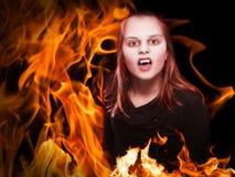 Vampiro su fuoco Immagine Stock Libera da Diritti