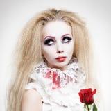 Vampiro timido al giorno Fotografia Stock Libera da Diritti
