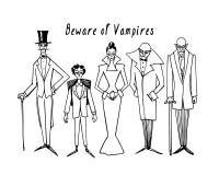 Vampiros tirados mão Fotografia de Stock Royalty Free