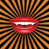 Vampirs-Lächeln Lizenzfreies Stockfoto