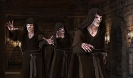 Vampirsmonster der Illustration 3D auf einem mittelalterlichen Hintergrund Lizenzfreie Stockbilder