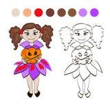 Vampitremeisje vector illustratie