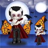 vampyr halloween Arkivfoto