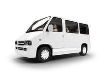 Van über weißem Hintergrund Lizenzfreies Stockfoto