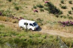 Van выбирает вверх автомобиль Стоковые Фото