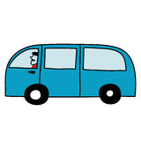 Van с водителем Стоковое Изображение