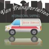 Van Транспорт Иллюстрация вектора