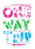 van 'één manierreis 'de typografie, t-shirtontwerp stock illustratie