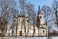 Witte orthodoxe kerk in Piotrkow Trybunalski Stock Afbeeldingen