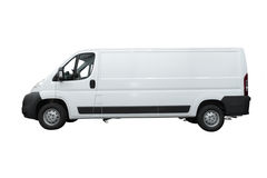 Van. Under the white background Stock Photography