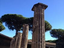 Van aan Pompei Stock Afbeeldingen