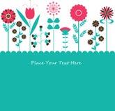 Van achtergrond bloemen vector Royalty-vrije Stock Foto